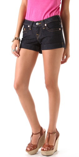 True Religion Allie Cuffed Shorts