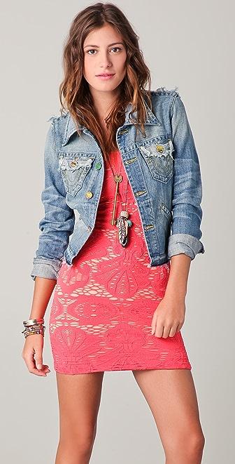 True Religion Jada Love & Haight Cropped Denim Jacket