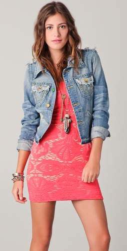 True Religion Jada Love & Haight Cropped Denim Jacket