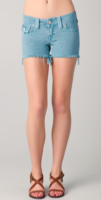 True Religion Keira Denim Cutoff Shorts