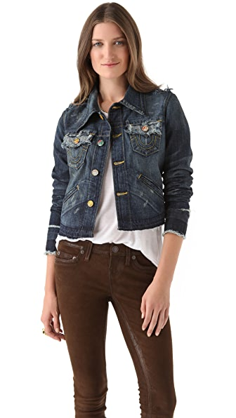 True Religion Jada Love & Haight Cropped Jacket