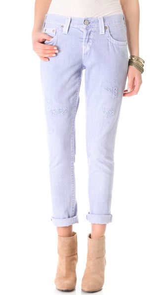 True Religion Brianna Mid Rise Boyfriend Jeans