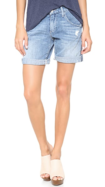 True Religion Miles Relaxed Rolled Shorts