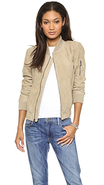 True Religion Suede Flight Jacket