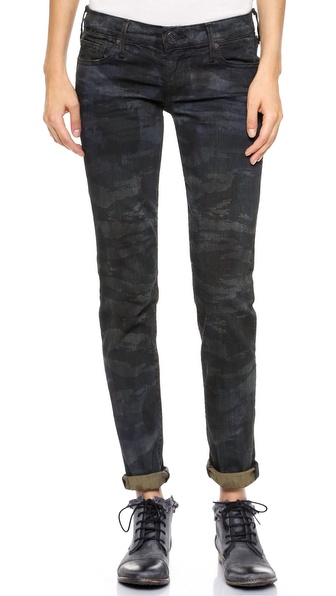 True Religion Casey Low Rise Super Skinny Camo Jeans
