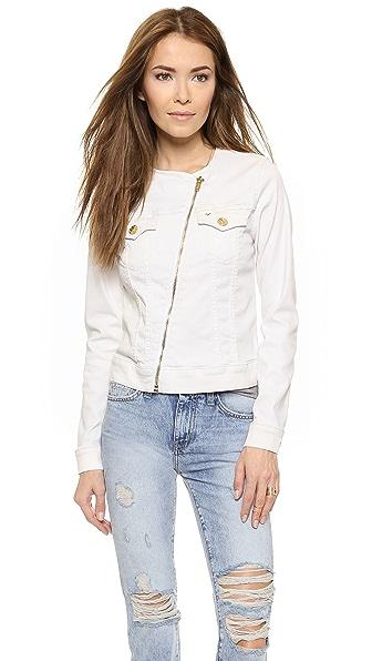 Джинсовая куртка Dusty в байкерском стиле True Religion. Цвет: оптический белый