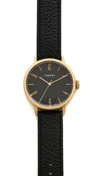 Tsovet Gold & Black 38MM Watch