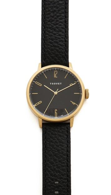 Tsovet Gold & Black 38MM Watch
