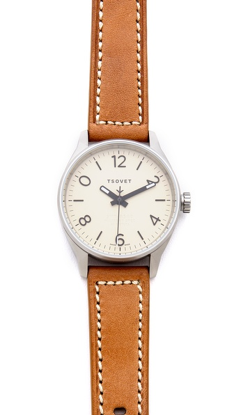 Tsovet Silver & Ivory 40MM Watch
