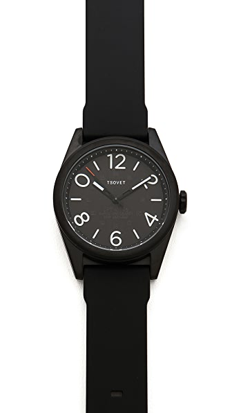 Tsovet Gunmetal & Black 42MM Watch
