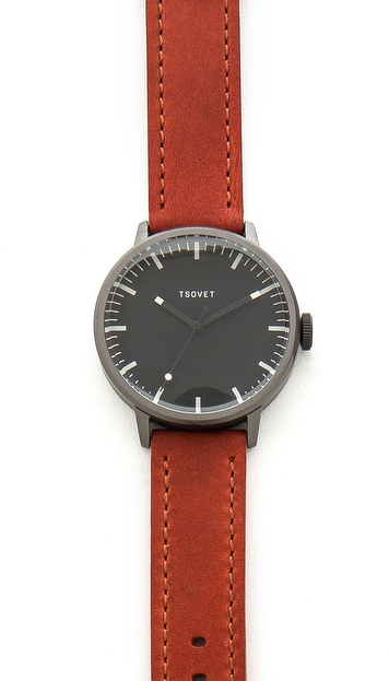 Tsovet Gunmetal & Black 38MM Watch