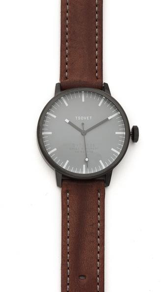 Tsovet Black & Grey 38MM Watch