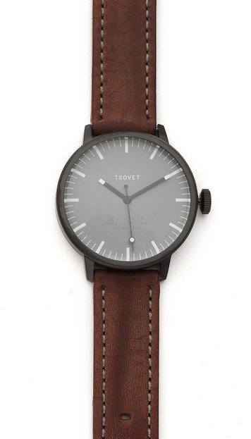 Tsovet Black & Grey 38MM Watch