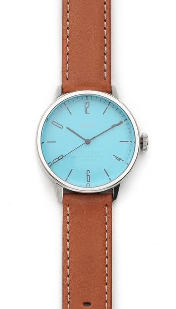 Tsovet Stainless Steel & Blue 38MM Watch