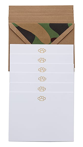 Terrapin Stationers Brass Knuckles Note Cards