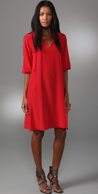 Tucker Story of Passion Tie Neck Dress