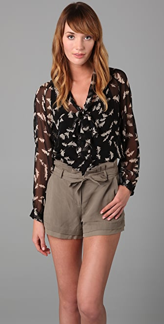 Tucker Long Sleeve Tie Blouse