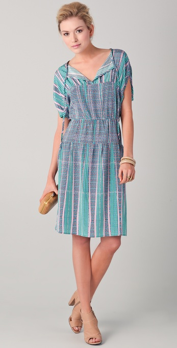 Tucker Tie Neck Panel Dress