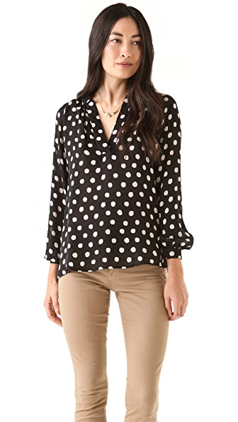 Tucker Long Sleeve Polo Blouse