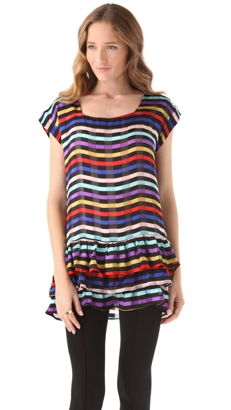 Tucker Tiered Top with Square Neck