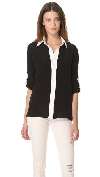 Tucker Combo Placket Blouse