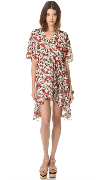 Tucker Cascade Mini Dress
