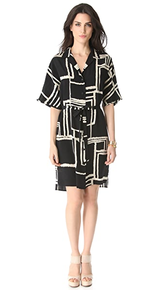 Tucker Wide Sleeve Shirtdress