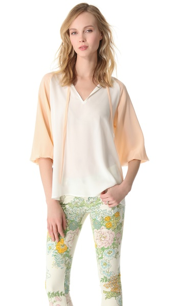 Tucker Long Tie Blouse