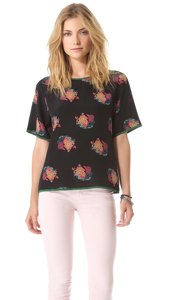 Tucker Boxy Silk Top