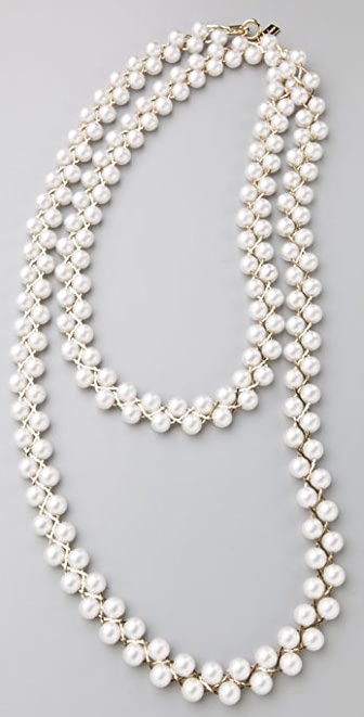 Tuleste Braided Pearl Necklace