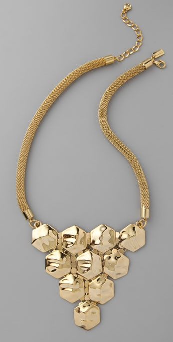 tuleste market Tiered Hexagon Necklace