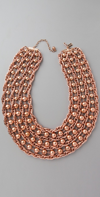 tuleste market Layered Ball & Chain Necklace
