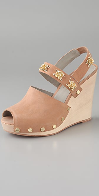 Tuleste Brooke Rosette Wedge Sandals