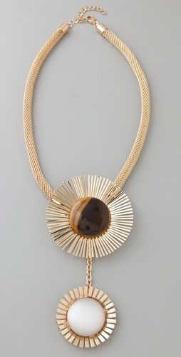 tuleste market Double Sunburst Pendant Necklace