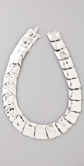 Tuleste Small Hammered Square Necklace
