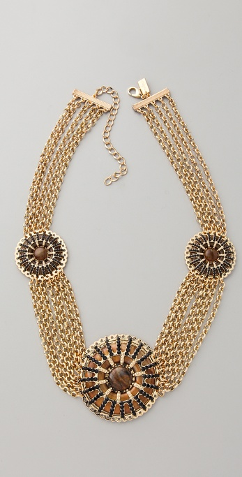 tuleste market Circle Pendant & Chain Necklace