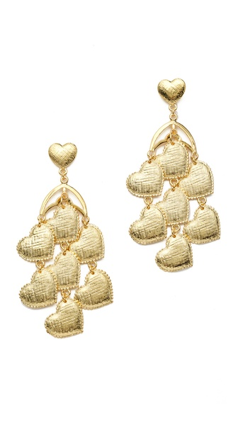 tuleste market Heart Chandelier Earrings