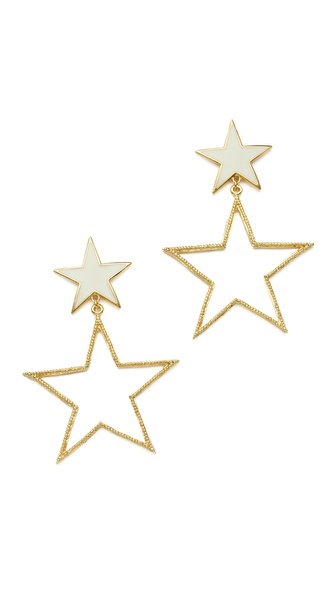 tuleste market Double Star Earrings