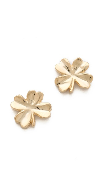 tuleste market Shamrock Stud Earrings