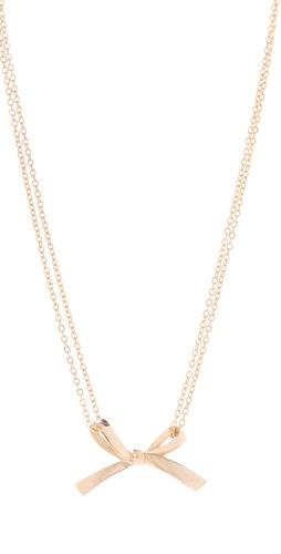 tuleste market Single Bow Necklace