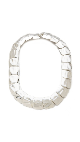 tuleste market Hammered Square Small Necklace