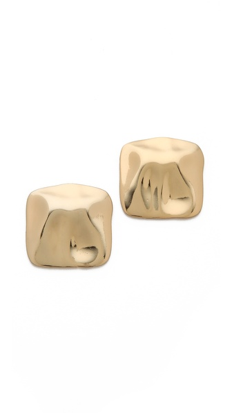 tuleste market Hammered Stud Earrings