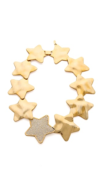 Tuleste Interlocking Star Hammered Necklace