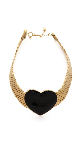 tuleste market Heart Choker Necklace