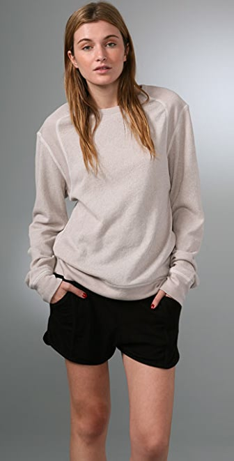T by Alexander Wang Speckled French Terry Sweatshirt