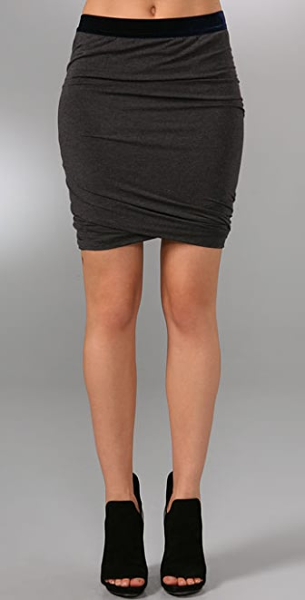 T by Alexander Wang Modal Spandex Ruched Skirt