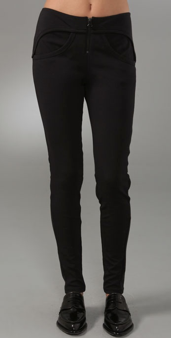 T by Alexander Wang Ponte Exposed Zip Leggings