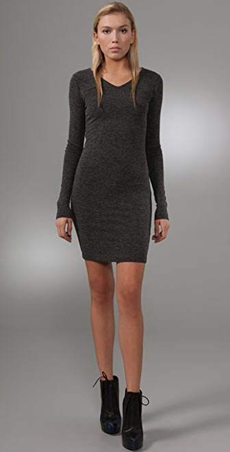 T by Alexander Wang Long Sleeve Fitted Dress