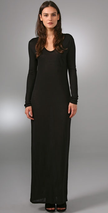 T by Alexander Wang Classic Long Sleeve Dress with Pocket