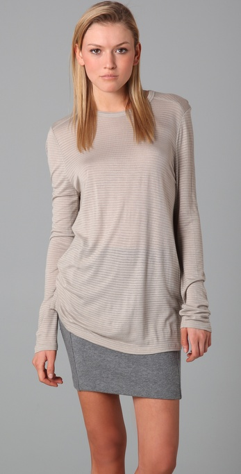 T by Alexander Wang Striped Classic Long Sleeve Tee